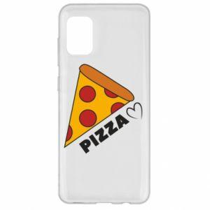 Etui na Samsung A31 Serce miłość pizzy