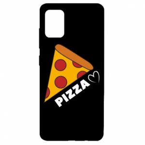Etui na Samsung A51 Serce miłość pizzy