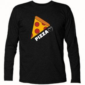 Koszulka z długim rękawem Serce miłość pizzy