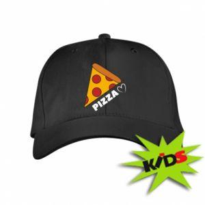 Dziecięca czapeczka z daszkiem Serce miłość pizzy