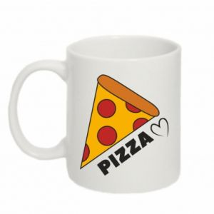 Mug 330ml Love heart pizza