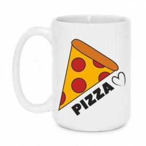 Kubek 450ml Serce miłość pizzy