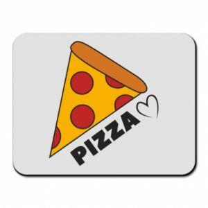 Podkładka pod mysz Serce miłość pizzy