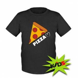 Dziecięcy T-shirt Serce miłość pizzy