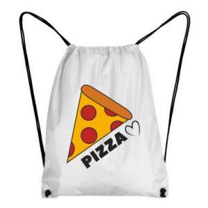 Plecak-worek Serce miłość pizzy