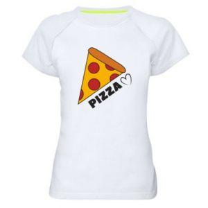Damska koszulka sportowa Serce miłość pizzy
