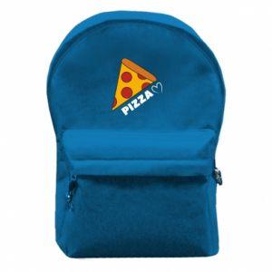 Plecak z przednią kieszenią Serce miłość pizzy