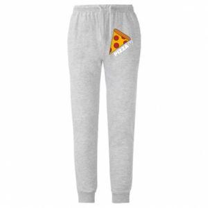 Męskie spodnie lekkie Serce miłość pizzy