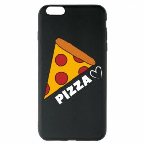 Etui na iPhone 6 Plus/6S Plus Serce miłość pizzy