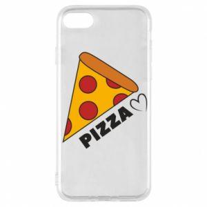 Etui na iPhone 7 Serce miłość pizzy