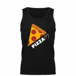 Męska koszulka Serce miłość pizzy