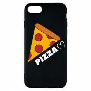 Etui na iPhone 8 Serce miłość pizzy