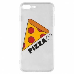 Etui na iPhone 8 Plus Serce miłość pizzy