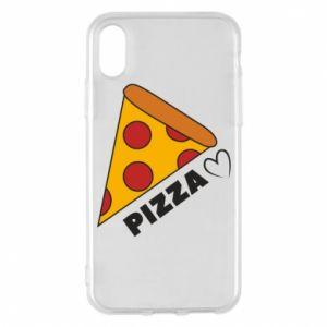 Etui na iPhone X/Xs Serce miłość pizzy