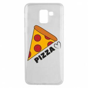 Etui na Samsung J6 Serce miłość pizzy