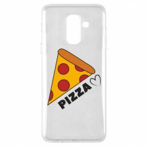 Etui na Samsung A6+ 2018 Serce miłość pizzy