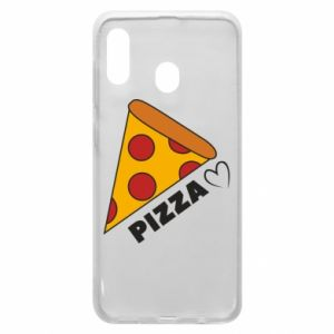 Etui na Samsung A20 Serce miłość pizzy