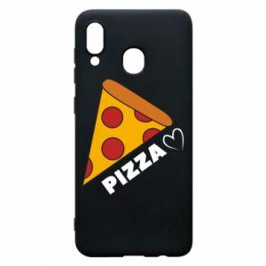 Etui na Samsung A30 Serce miłość pizzy