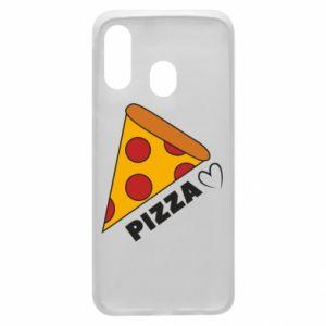 Etui na Samsung A40 Serce miłość pizzy