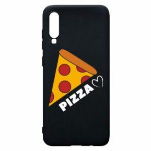 Etui na Samsung A70 Serce miłość pizzy