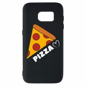 Etui na Samsung S7 Serce miłość pizzy
