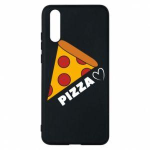 Etui na Huawei P20 Serce miłość pizzy