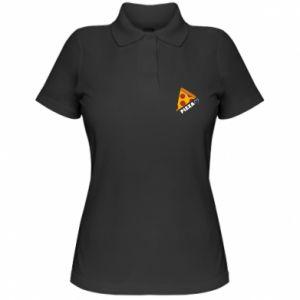 Damska koszulka polo Serce miłość pizzy