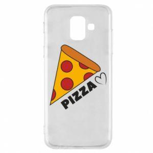 Etui na Samsung A6 2018 Serce miłość pizzy