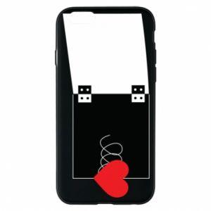 Etui na iPhone 6/6S Serce na sprężynce - PrintSalon