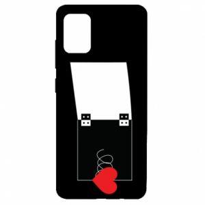 Etui na Samsung A51 Serce na sprężynce