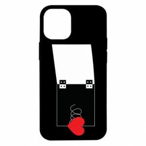 Etui na iPhone 12 Mini Serce na sprężynce