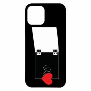 Etui na iPhone 12/12 Pro Serce na sprężynce