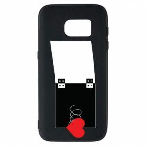 Etui na Samsung S7 Serce na sprężynce - PrintSalon
