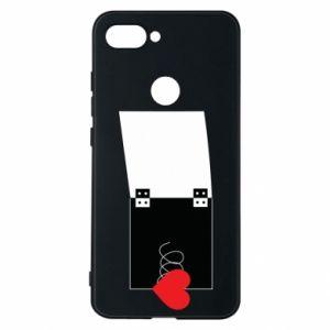 Etui na Xiaomi Mi8 Lite Serce na sprężynce - PrintSalon