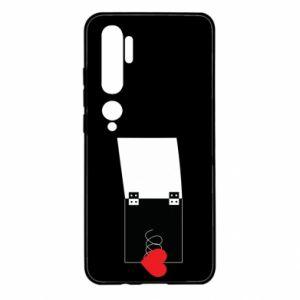 Etui na Xiaomi Mi Note 10 Serce na sprężynce