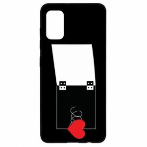 Etui na Samsung A41 Serce na sprężynce