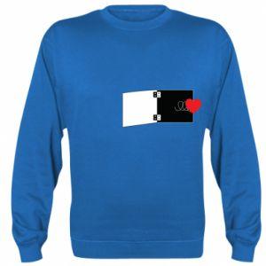 Bluza (raglan) Serce na sprężynce - PrintSalon