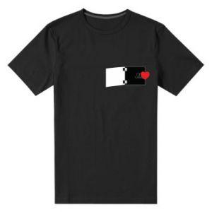 Męska premium koszulka Serce na sprężynce - PrintSalon