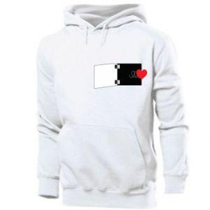 Men's hoodie Heart on a spring