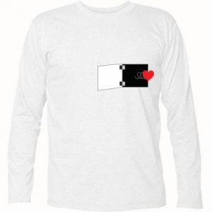 Koszulka z długim rękawem Serce na sprężynce - PrintSalon