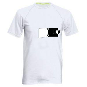 Męska koszulka sportowa Serce na sprężynce - PrintSalon