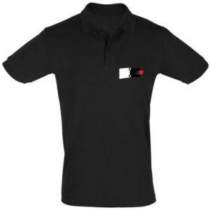 Men's Polo shirt Heart on a spring