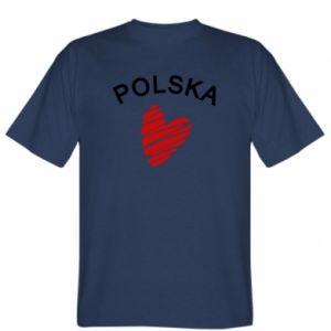 Koszulka męska Serce Polska