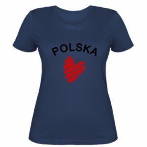 Koszulka damska Serce Polska