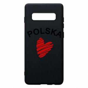Etui na Samsung S10+ Serce Polska