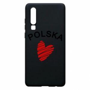 Etui na Huawei P30 Serce Polska
