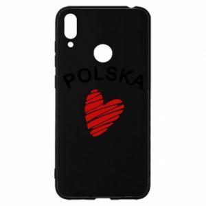 Etui na Huawei Y7 2019 Serce Polska