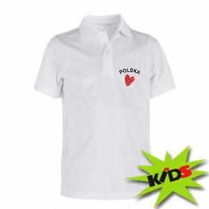 Koszulka polo dziecięca Serce Polska