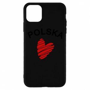Etui na iPhone 11 Pro Max Serce Polska