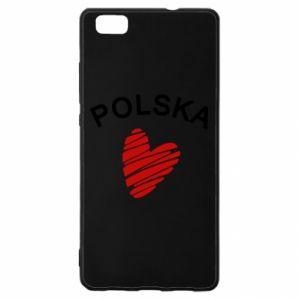 Etui na Huawei P 8 Lite Serce Polska